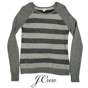 J. Crew Merino Wool Mix Intarsia ZigZag Sweater | Women's Small